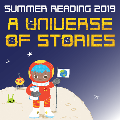 Summer Reading 2019 - A Universe of Stories logo